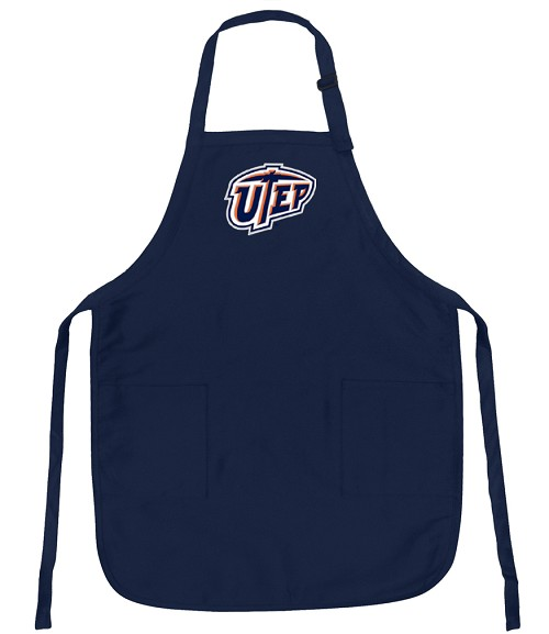 UTEP Miners Apron College Logo Blue