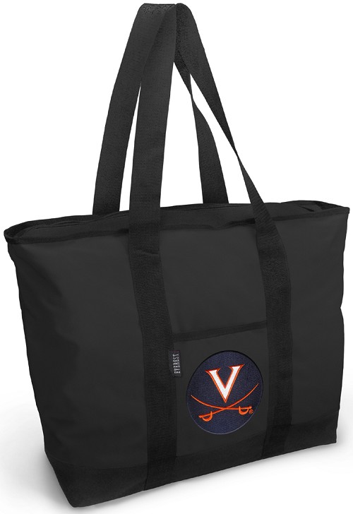 UVA University of Virginia Tote Bag Black Deluxe