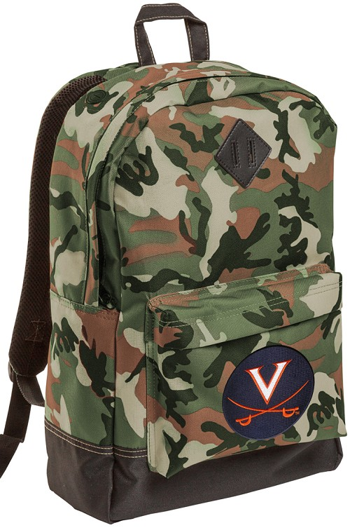 UVA University of Virginia Camo Backpack