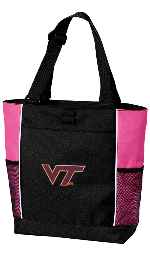Virginia Tech Hokies Neon Pink Tote Bag