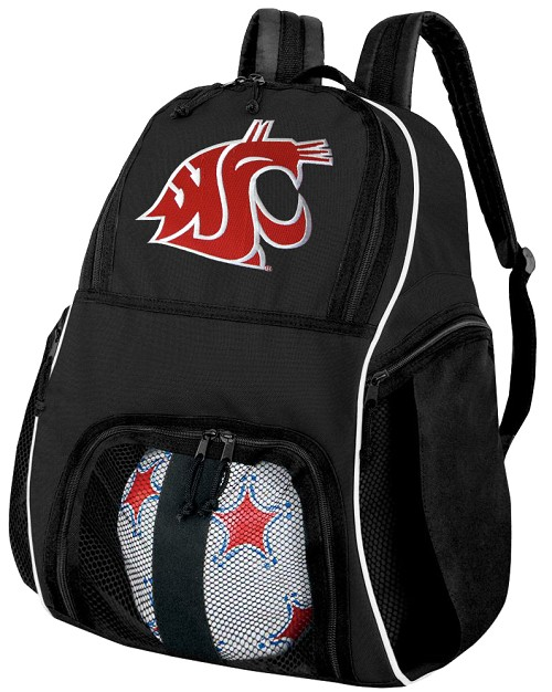 Washington State University Soccer Backpack or Washington State Volleyball Bag For Boys or Girls
