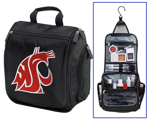 WSU Washington State University Cosmetic Bag or Mens Shaving Kit - Travel Bag
