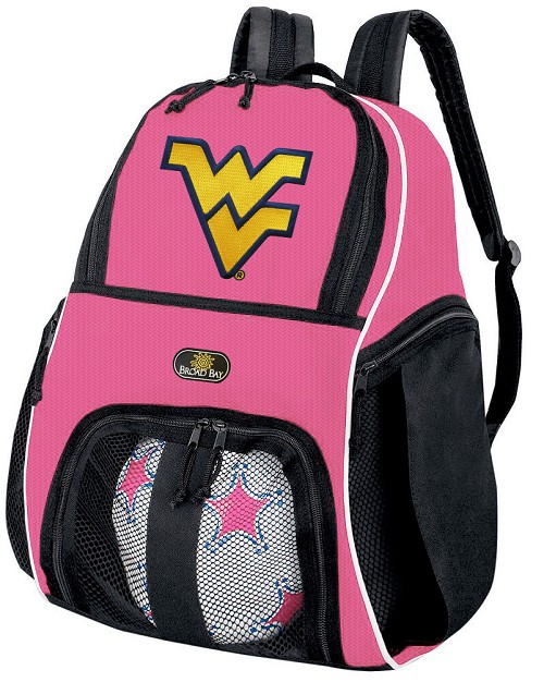 Girls West Virginia University Soccer Backpack or WVU Volleyball Bag